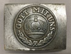 A WWI German belt buckle,
