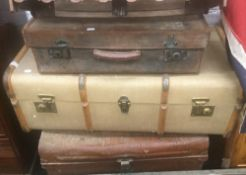 A quantity of various trunks and cases