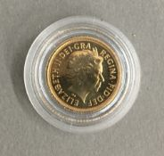 A quarter sovereign,