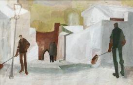 A gouache painting,