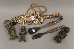 A quantity of various African tribal figures, etc.