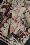 A vintage needlework bedspread/throw,