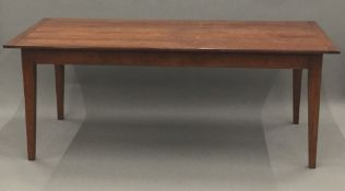 A modern farmhouse kitchen table. 89 cm wide; 198 cm long.