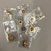 Ten early 20th century enamelled racing badges predominately for Gatwick Racecourse