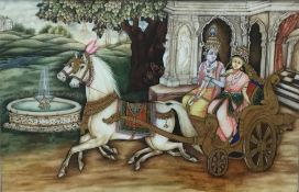 Two fine hand painted Indian miniatures, Shah Jehan,