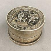 A Chinese circular box
