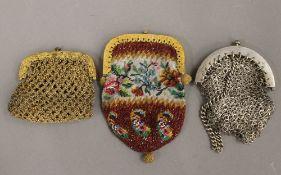 Three vintage ladies purses
