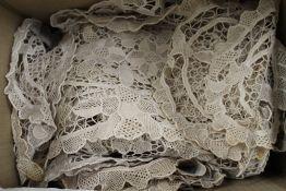 A small quantity of crochet doilies