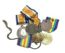A quantity of various WWI medals