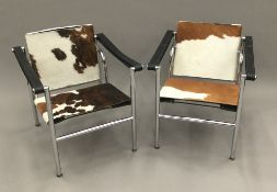 A pair of LC1 Charlotte Perriand,