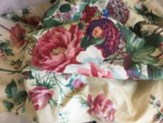 A quantity of florally decorated curtains