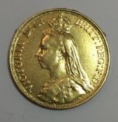 An 1887 double sovereign (15.