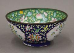 A Canton enamel bowl