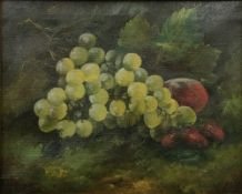 ENGLISH SCHOOL (19th century), Still Life of Fruit, oil on canvas, indistinctly initialled AW '95,