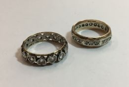 Two gold and silver dress rings