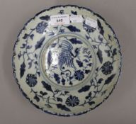 A blue and white Chinese porcelain bowl
