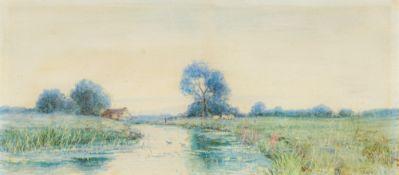 ROBERT WINCHESTER FRASER (1848-1906) British, At West Row, Suffolk, watercolour,