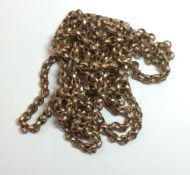A Victorian languard chain,