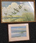 PETER SCOTT, two prints, framed and glazed,