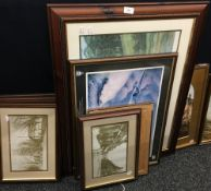 A quantity of prints, including scenes of Ely, etc.