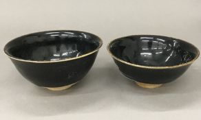 A pair of Chinese Jun Ware type bowls