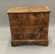 An 18th century walnut chest of drawers