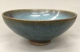 A Chinese Jun Ware type porcelain bowl