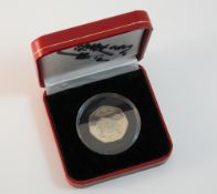 An Isle of Man TT Race proof 50 pence coin ,