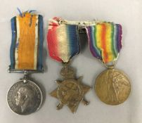 A WWI Trio of medals, awarded to Roland Wilfred Lovett, Royal Navy,