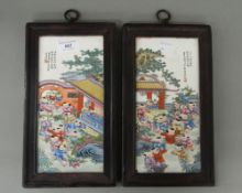 A pair of Chinese plaques