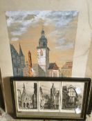 A limited edition signed etching of York,