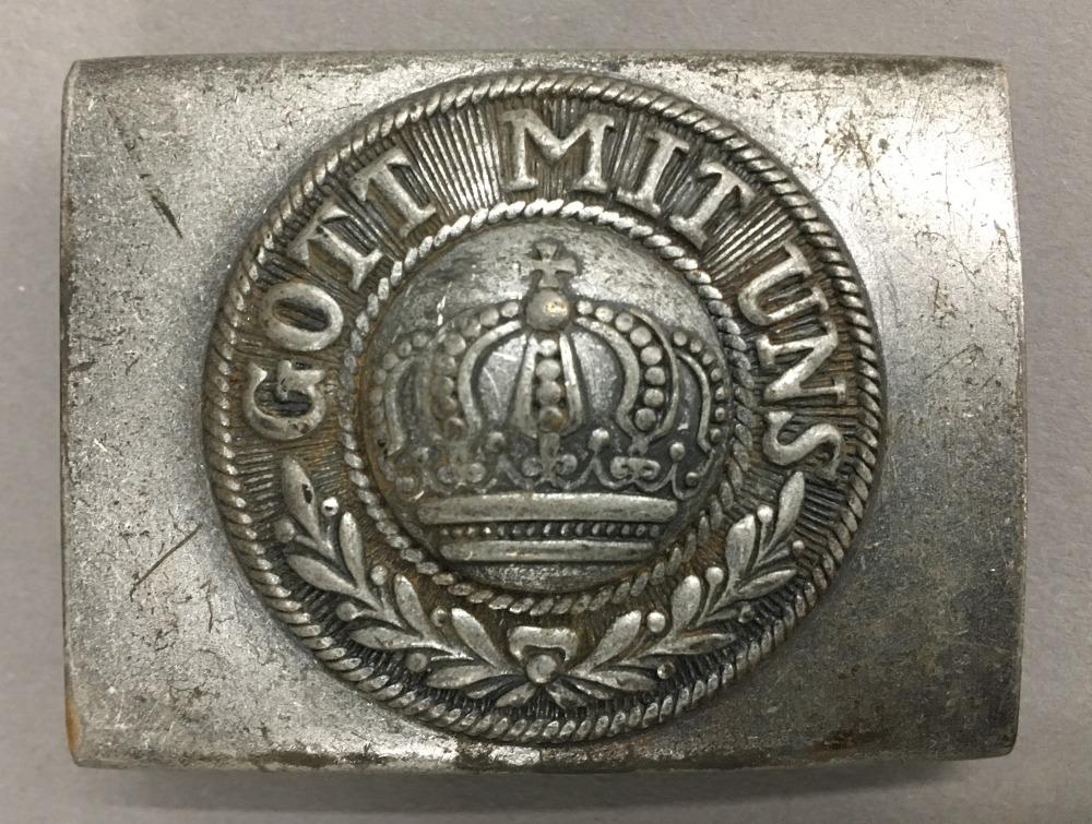 Lot 56 - A WWI German belt buckle,