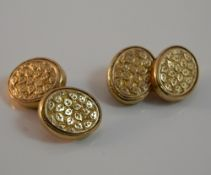 A pair of 9 ct rose gold cufflinks (12.