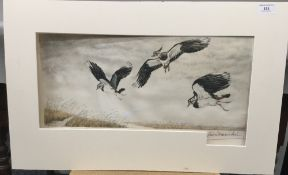 LEON DANCHIN (1887-1939) French, Oiseaux, limited edition etching, signed and numbered 167/500,