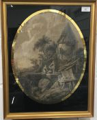 A pair of 19th century scenic prints,