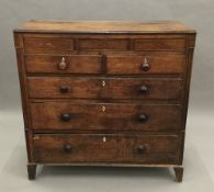 A 19th century oak North Country chest of drawers