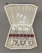 A set of six large Fiddle pattern teaspoons by William Bateman of London