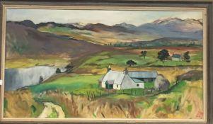 DAVINA MERRY (later Gibbs) (20th/21st century) British, Shepherds Croft, Inverness, oil on canvas,
