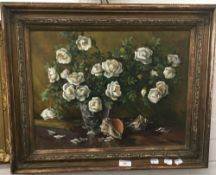 RUSSIAN SCHOOL, Floral Still Life, oil on canvas, signed and dated '92,
