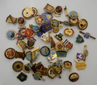 A collection of bowling badges