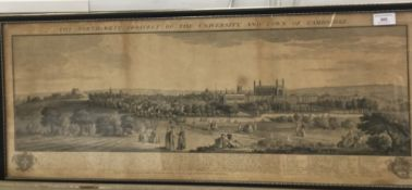 An 18th century view, The North West Prospect of the University and Town of Cambridge,