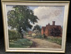 S PERCIVAL, Village Scene, oil on board, signed and dated '76,