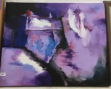 Modern Abstract, Marine, oil on canvas, signed Verity,