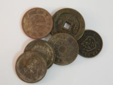 A quantity of Chinese coins
