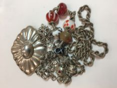 A quantity of assorted silver jewellery (86 grammes total weight)