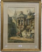 H SCHAFER (19th century) Continental, Townscape, watercolour,
