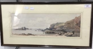 PHILIP MITCHELL, watercolour of a cove, signed and dated 1853,