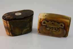 Two 18th/19th century horn snuff boxes,