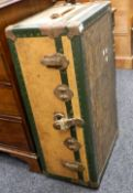 A vintage travelling trunk