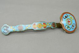 A cloisonne ruyi sceptre